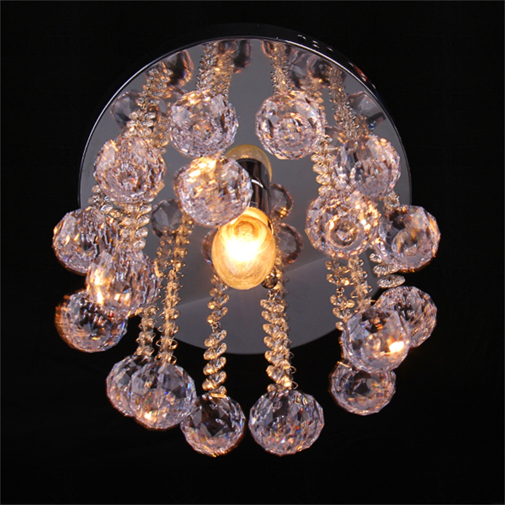 Crystal Droplets Silver Chrome Light Chandelier Fitting Lamp