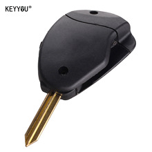 KEYYOU New 2 Button Remote Key Shell Case Fob Side 2 Button FOB Case Shell For Citroen Evasion Synergie Xsara Xantia