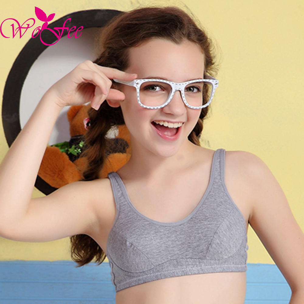 Puperty ) nude WoFee Puberty Growing Young Girls Soft Touch Cotton Training Bra With Two  Hooks B1014(China