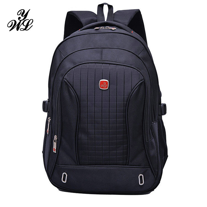 WYL 15.6 Inch Laptop Backpack SchooL Bag Waterproof Travel Rucksack Notebook Computer Bag For Men and Women Male Black New -50 kingsons brand waterproof men women laptop backpack 15 6 inch notebook computer bag korean style school backpacks for boys girl