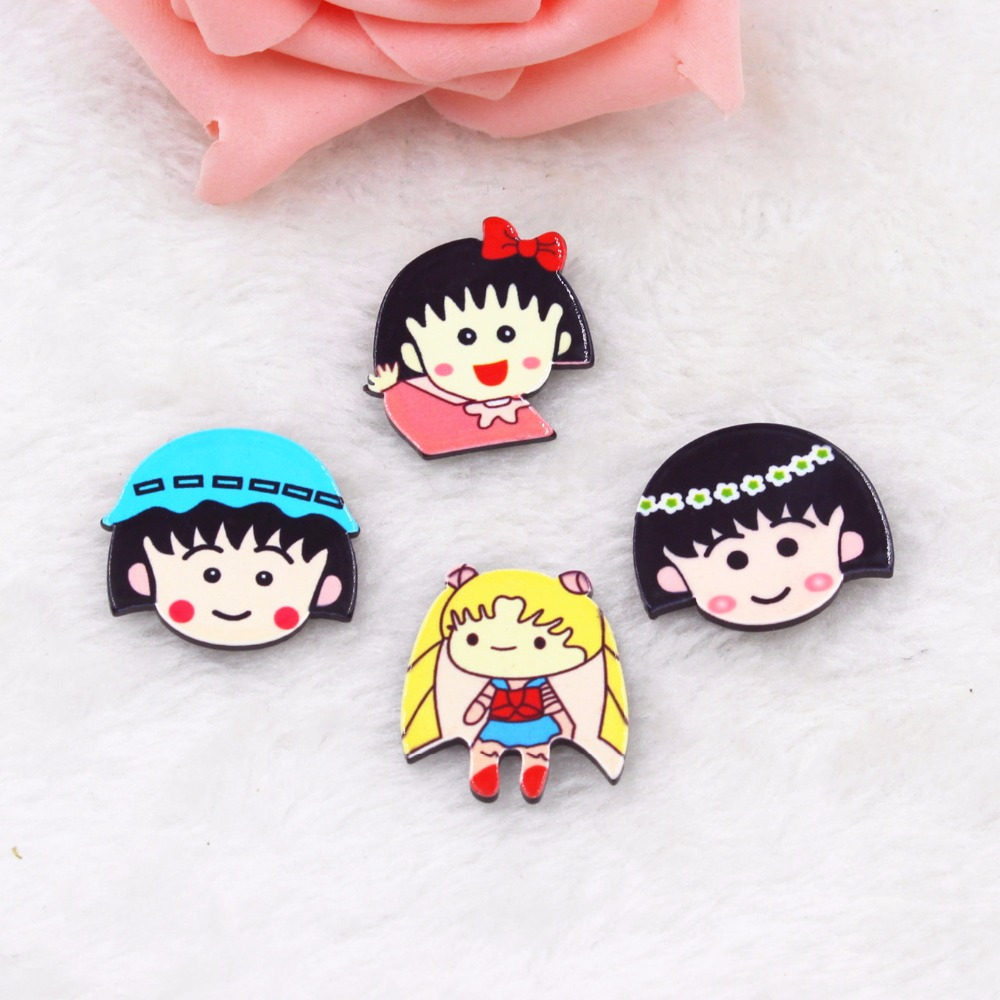 Chibi Maruko Chan Home: Kawaii Home Decoration 3D Flat Back Planar Resin Craft