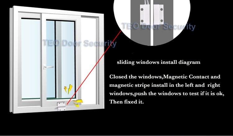 10pcs Window Magnetic door Contact switch Sensor Home security alarm Wired Detector Switch for GSM door Contact Sensor