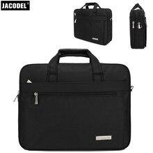 Jacodel Бизнес Ткань Оксфорд ноутбук портфель для 14 13.3 дюймов ноутбука Записные книжки толстые и твердые для ноутбука сумки Мужчины плеча Сумки