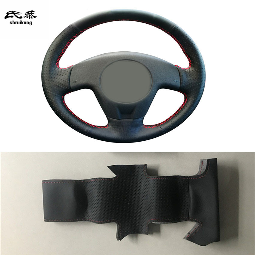 Sew-on Microfiber leather car steering wheel cover Car accessories For 2004 2005 2006 SEAT IBIZA(China)