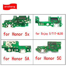 USB Charger Charging Dock port Connector Board Flex Cable For Huawei Honor 5X 5A 5C Enjoy 5 TIT-AL00