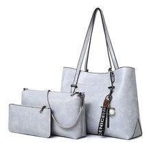 3 Pcs / Set Fashion Women Composite Bags PU Leather Women Simple Handbag Shoulder Bag Wallets Bags все цены