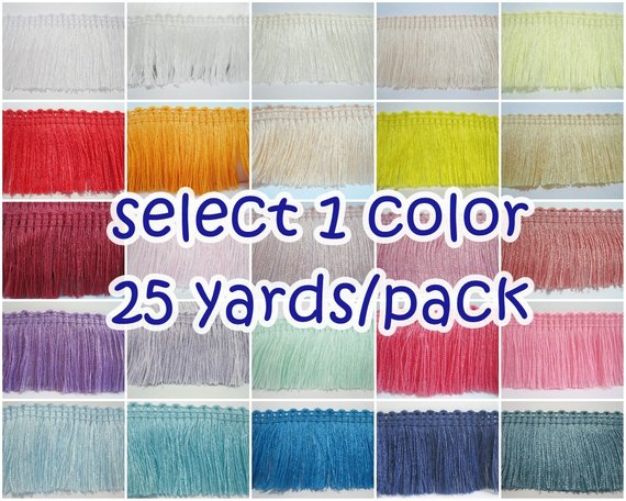 Royal Blue 2 Yards of Pack 12 Width Fringe Trim