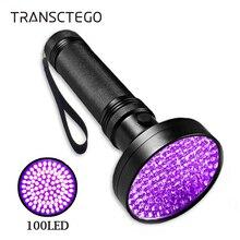 UV Flashlight Blacklight 100 LED 18W 395nm Ultraviolet Black Light Outdoor Portable Torch Light for Detection Violet Flashlight цена 2017