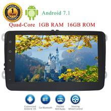Android 7.1 8″HD Digital Touch Screen Head unit for Volkswagen GPS/Wifi/Bluetooth/RDS Rearview Camera Input 1080P 1024600 HD