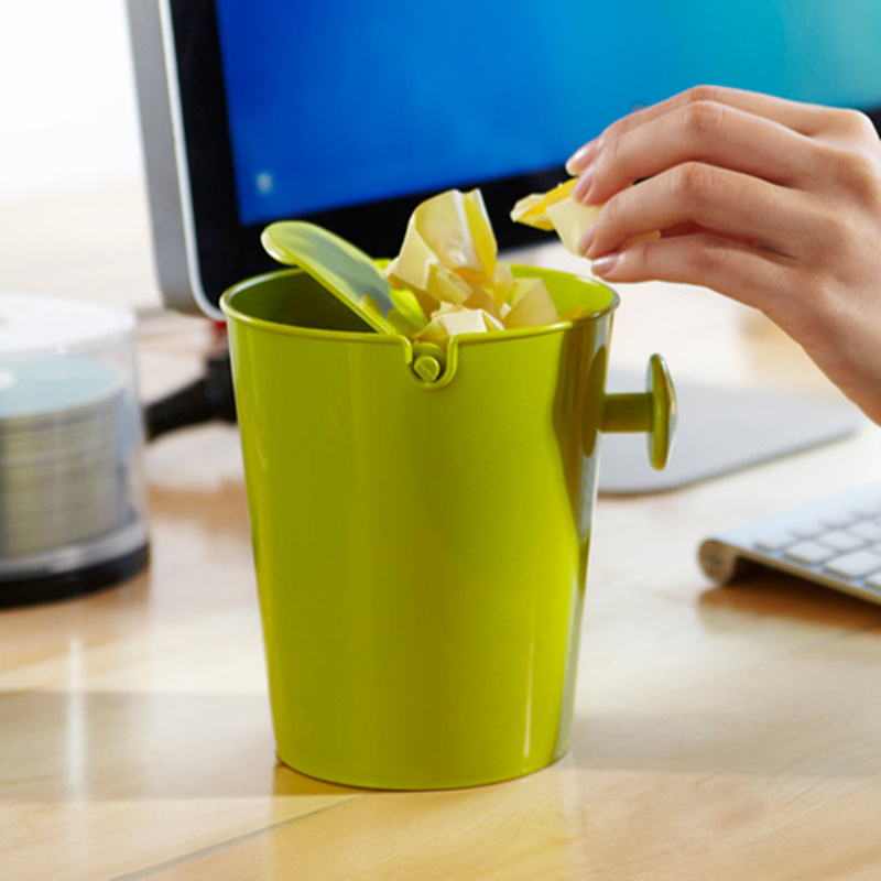 Creative mini desktop trash can waste bin table dustbin Waste Container Rubbish Bin Desk Organizer
