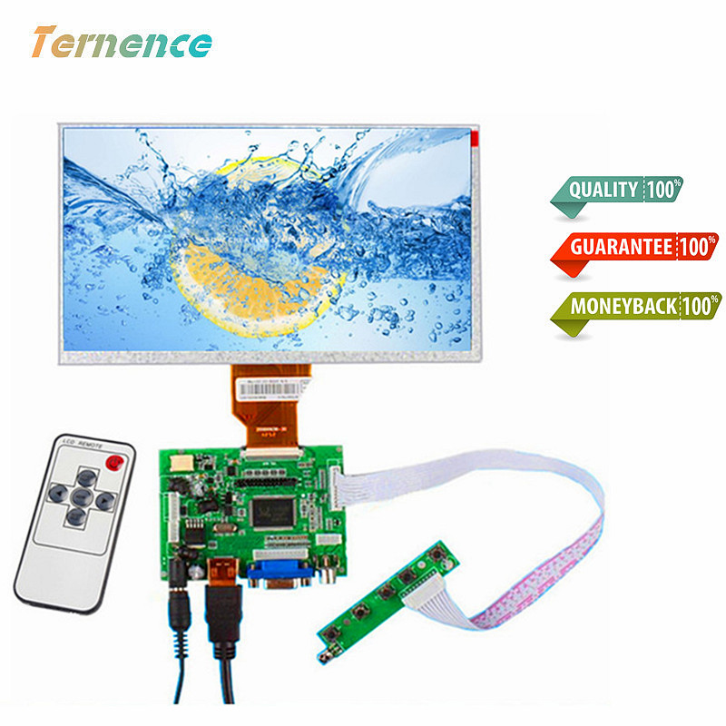 skylarpu for 7.0 inch Raspberry Pi LCD Display Screen for INNOLUX TFT LCD Monitor AT070TN90 + Kit HDMI VGA Input Driver Board raspberry pi 3 model b 7 inch lcd touch screen display tft monitor at070tn90 with touchscreen kit hdmi vga input driver board