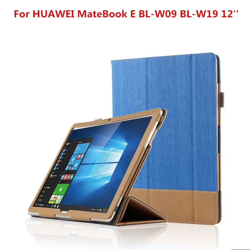 Fashion Business PU Leather Flip Cover Shell Protective Case For HUAWEI MateBook E BL W09 BL