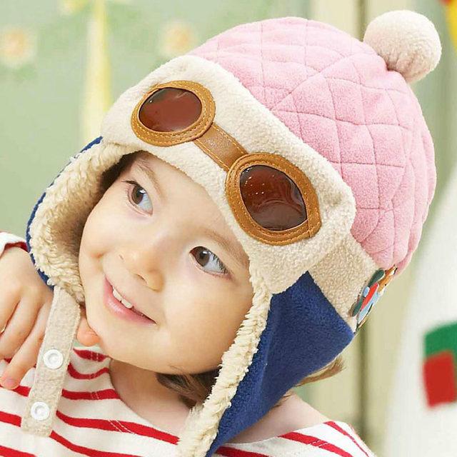 ... new arrival dd31d d5174 Infant Warm Plush Cloth Cap Hat Beanie Cool  Baby Boy Girl Winter ... 3ab57e9477f8