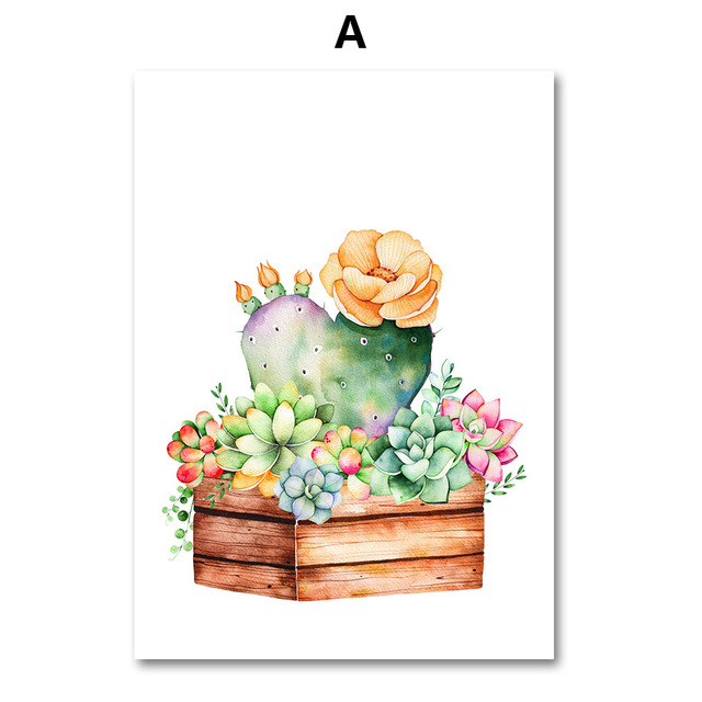 AFFLATUS-Cactus-Succulent-Plant-Canvas-Painting-Nordic-Poster-Wall-Art-Prints-Watercolor-Wall-Pictures-For-Living.jpg_640x640