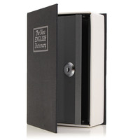 NEW Metal Paper Plate Dictionary Book Secret Hidden Security Safe Key Lock Cash Money Jewellery Locker