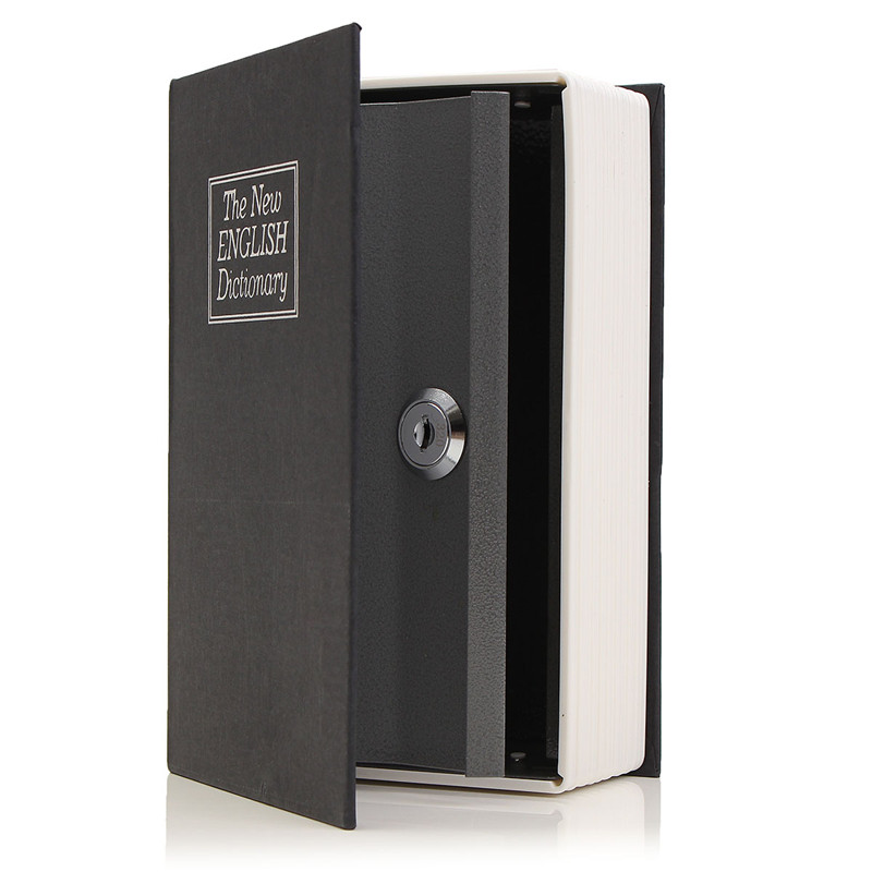 NEW Metal + Paper Plate Dictionary Book Secret Hidden Security Safe Key Lock Cash Money Jewellery Locker Durable Quality durable home security dictionary book hidden safe cash jewelry storage key lock box deco 24 2 15 5 5cm free shipping hot sale