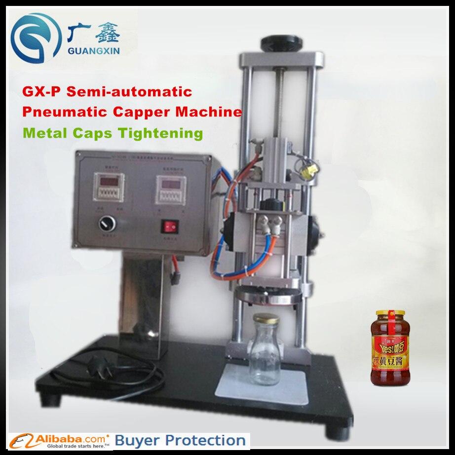 Apprehensive Freeshipping For Semi-automatic Glass Bottle Metal Cap Tightening Machine Semi-automatic Pneumatic Capper For Glass Bottles Home Appliances Food Processor Parts
