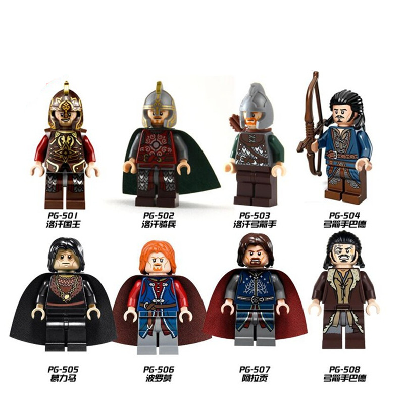 1PC Aragorn with Sword The Lord of the Rings Hobbit Super Heroes  DIY Building Blocks Bricks Kids Xmas Toys Gifts PG8031