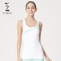 TINZE Для женщин Набор Совок 3 цвета блокирование выдалбливают Фитнес девочек Тренажерный зал Бег Спортивный костюм тренировки Костюмы 8842B