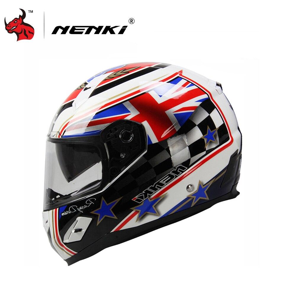 НЭНЬКИ мотоциклетный шлем стекловолокна оболочки для езды на мотоцикле шлем полного лица Мото шлем capacete де Мото точка аутентификации