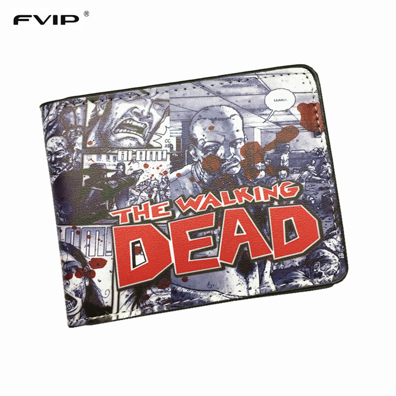 FVIP The AMC Movie The Walking Dead Short Wallets With Card Holder Photo Holder Men And Women Cool Purse мегафон amc se116 продам киев