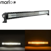 Marloo Light Straight / Curved 50 inch 288W Amber White LED Work Light Bar Combo Beam For Jeep SUV UTE 4x4 ATV Truck Off Road