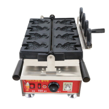 New ice cream taiyaki machine fish waffle mini ice cream taiyaki open mouth fish waffle maker machine high efficiency commercial gas double plate 12pcs fish taiyaki waffle maker machine taiyaki maker commercial