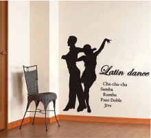 Pas DE deux international dance Latin Protect the school classroom studio decorative laminated glass wall stickers