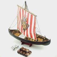 Dowin scale 1/72 Viking Knarr assembly model kits wooden sailing boat ship model building kits educational toy DIY gift childre