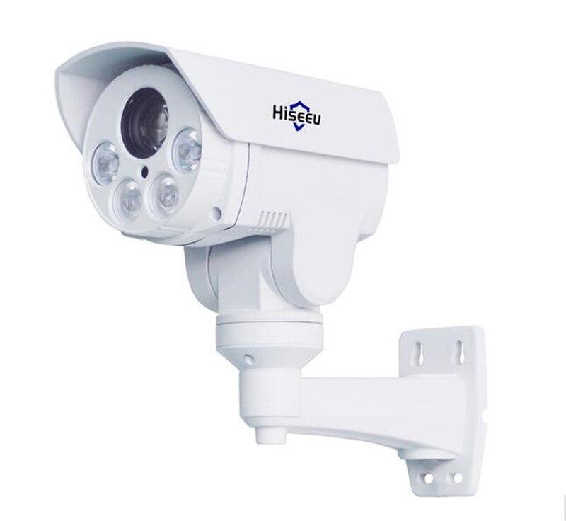Hiseeu HD401  960P HD 4X Zoom PTZ  Waterproof  IP Camera  Project Night Vision Outdoor Waterproof IR CUT Bullet Camera