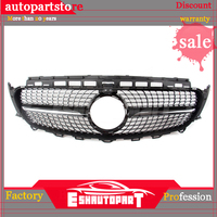 ABS Diamond style Mercedes Front Bumper Racing Grille center grill for Benz E Class W213 E300 E350 2015 2017 sport+