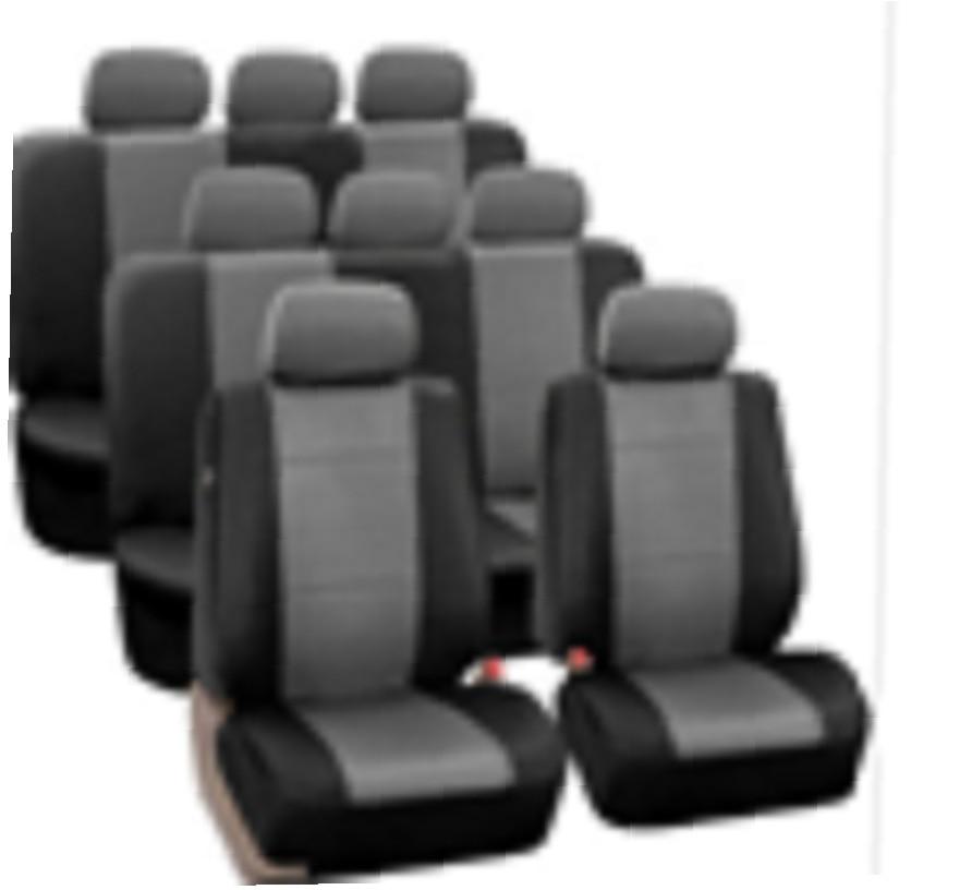 AODELAI 2017 new Car seat 16 piece 8 seat four seasons universal car seat cover seat grey + black PU leather