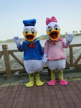 BING RUI CO High quality adult size Donald Duck Mascot Costume sales Donald and Daisy Mascot Costume Fast Shipping