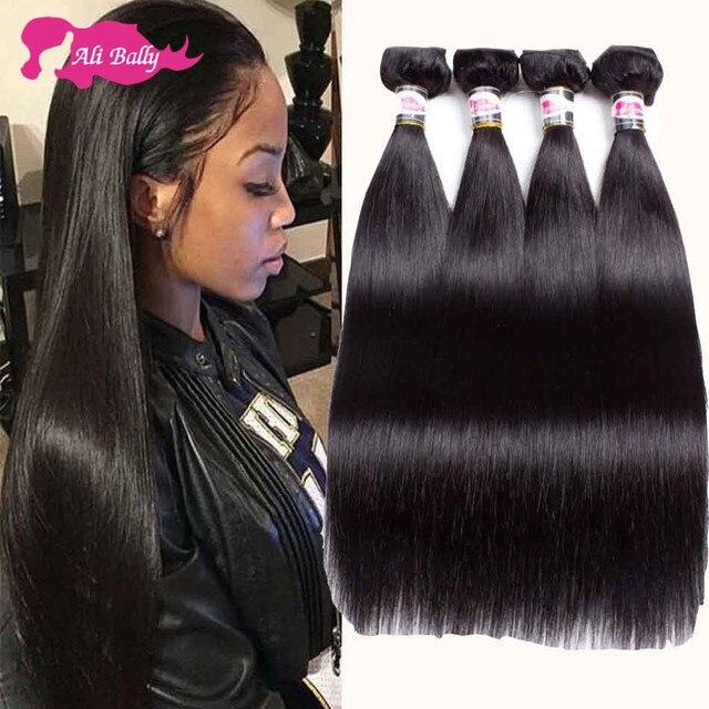 2016 Cheap Brazilian Straight Hair 3 Bundles And Closure 10 Brazilian Virgin Hair With Lace Closure Bundle Ali Moda Hair