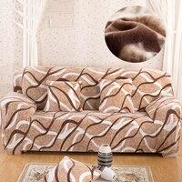 Флис печати Материал диван крышка евро диван Чехлы для Гостиная Универсальный эластичные диване крышка угловой диван обложки