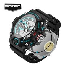 Nueva SANDA Marca Reloj de Los Hombres a prueba de Golpes de Natación LED Militar Deportes Relojes hombres Analógico Digital Reloj de Cuarzo Relogio Masculino