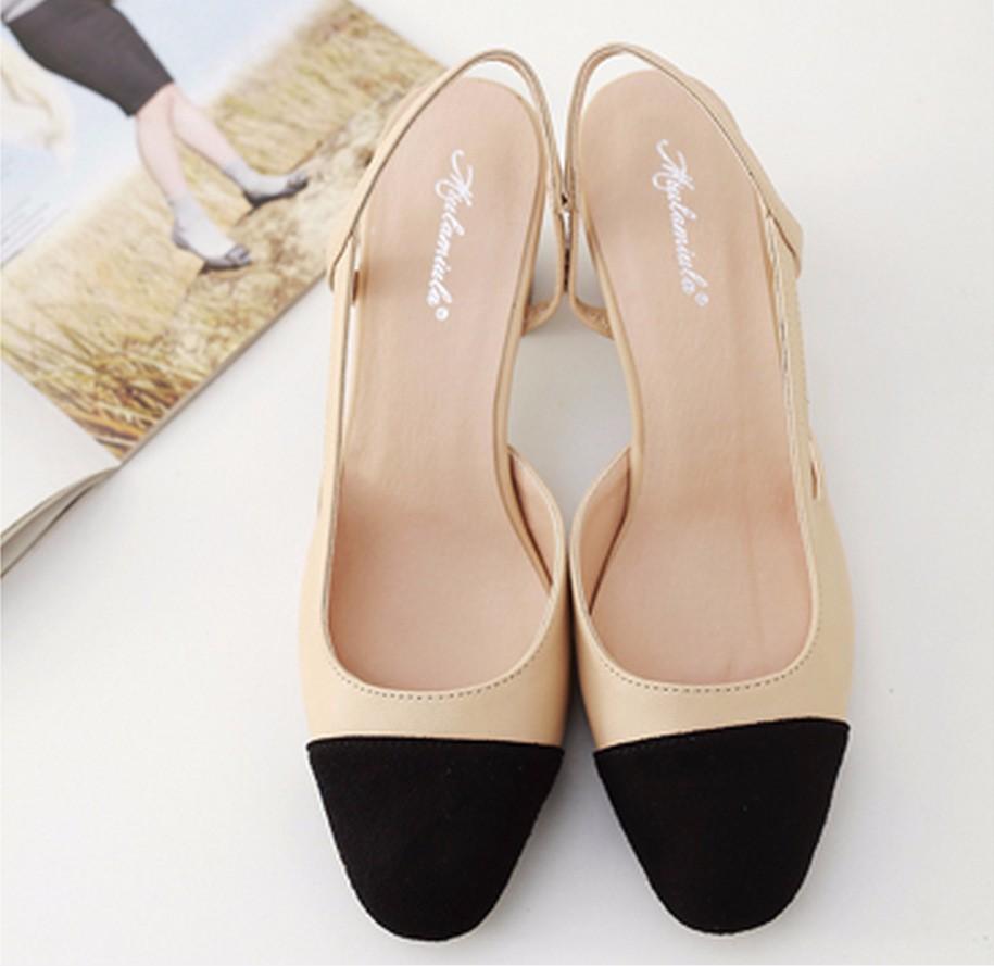 4864286064 women pump shoes New fashion woman thick heels ladies designer ...