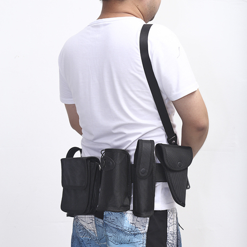 Policemen Equipment Military Tactical Belt Band Accessories Multi-functional Waist Belt 9 Pieces of Police Accessories