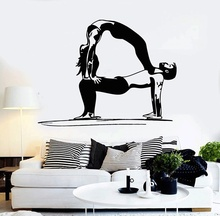 Vinyl wall decal yoga couple healthy life sports stickers, furniture living room decoration wall stickers YJ13 couple bird wall decal