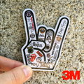 [Rock Hand Sign Band Music Symbol]Car Styling Waterproof 3M Grey Sticker Motorcycle Skateboard Trolley Laptop Ipad Doodle Decals