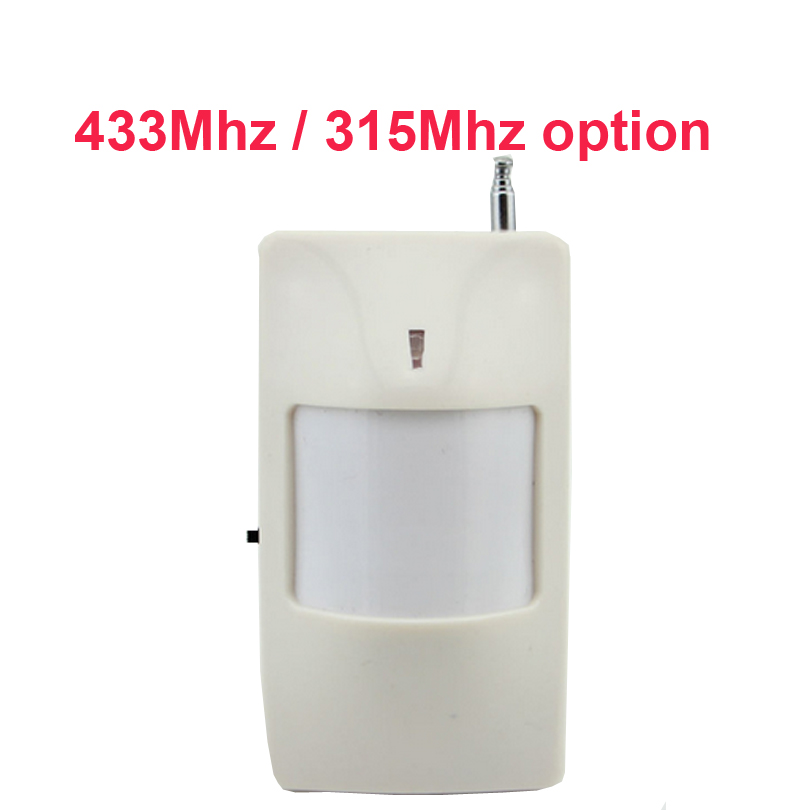 433mhz Wireless PIR Detector motion sensor Home Alarm Security Accessories alarm sensor PIR alarm for alarm system 315mhz option цена и фото