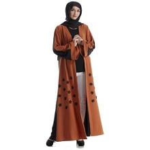 The new Arab Middle East Turkey apparel fashion custom embroidered cardigan dress robes Muslim holy month of Ramadan