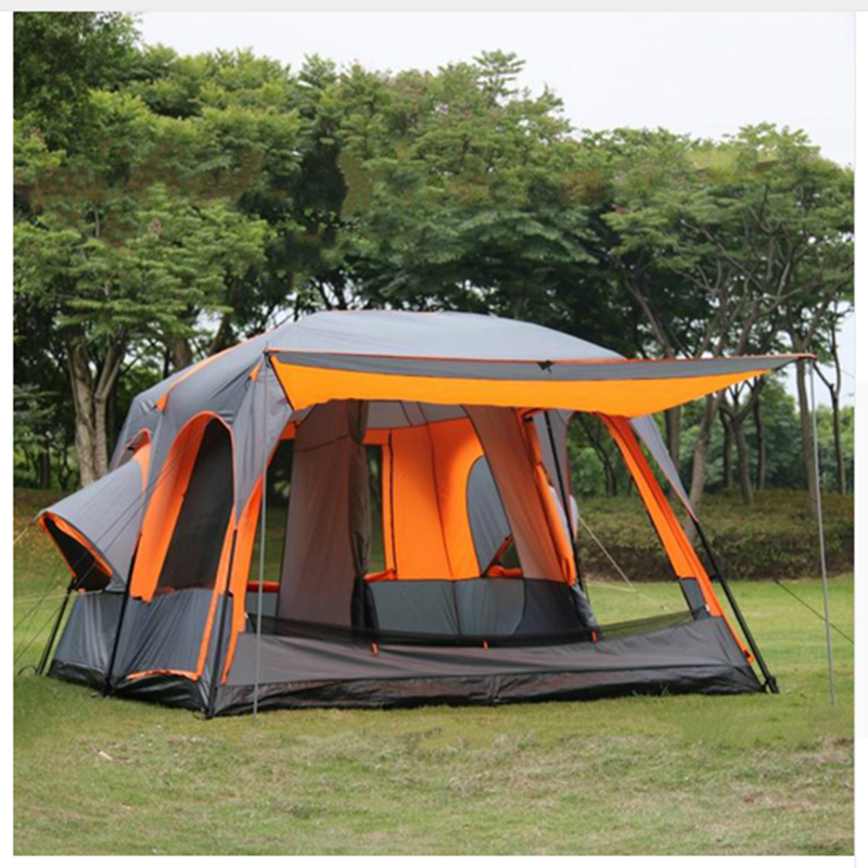 Waterproof Party Family Tent 6 8 10 12 Outdoor Camping Tent Sun Shelter Party Family Hiking Camping Tent trackman 5 8 person outdoor camping tent one room one hall family tent gazebo awnin beach tent sun shelter family tent