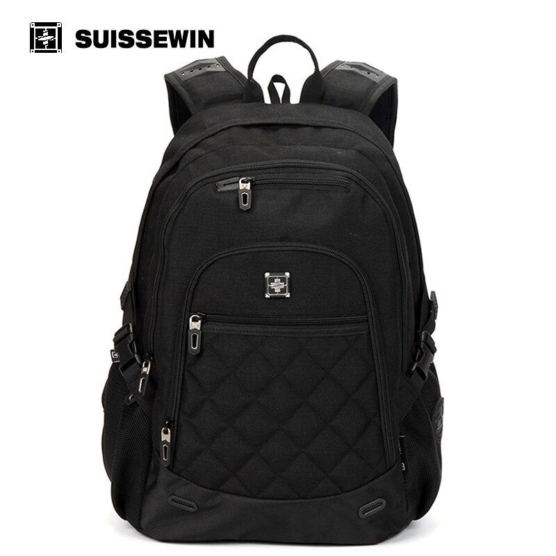 все цены на Suissewin Brand School Bags Backpack Fashion Nylon Boys Girls Backpack Sac a dos Male Mochila Bagpack Bag to School онлайн