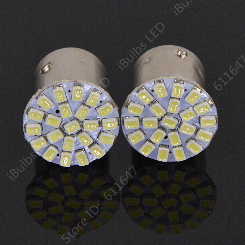 100x Big Promotion T25 S25 1157 BAY15D 22 LED 1206 SMD Car Auto Turn Stop Brake