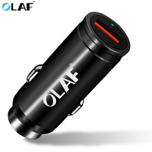 OLAF Car USB Charger Quick Charge 3.0 Mobile Phone Charger Adapter Fast Car Charger for iPhone Samsung Xiaomi HTC Tablet Charger