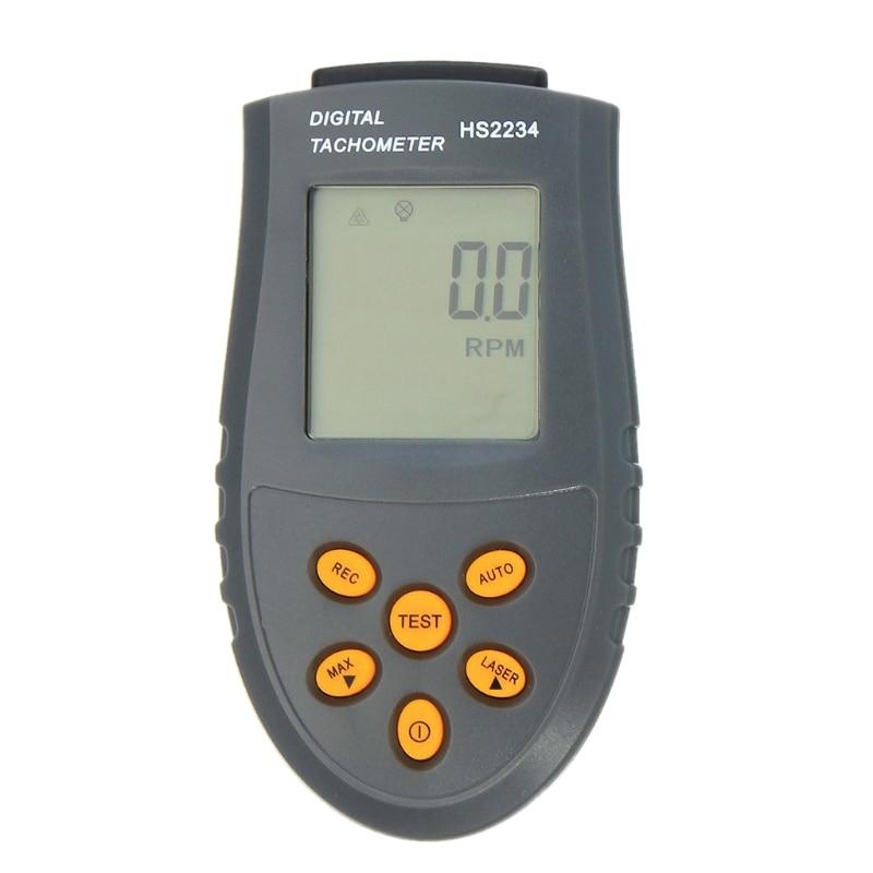 Digital Tachometer RPM Rotation Speed Gauge Meter Tester Revolution Counter Tach mastech ms6208a contact digital tachometer rpm meter rotation speed 50 19999rpm