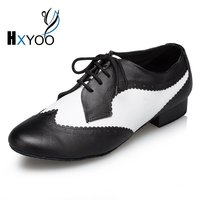 HXYOO Mix Color Latin Dance Shoes Men Black White Ballroom Shoes Salsa Tango Dance Shoes Boys L175
