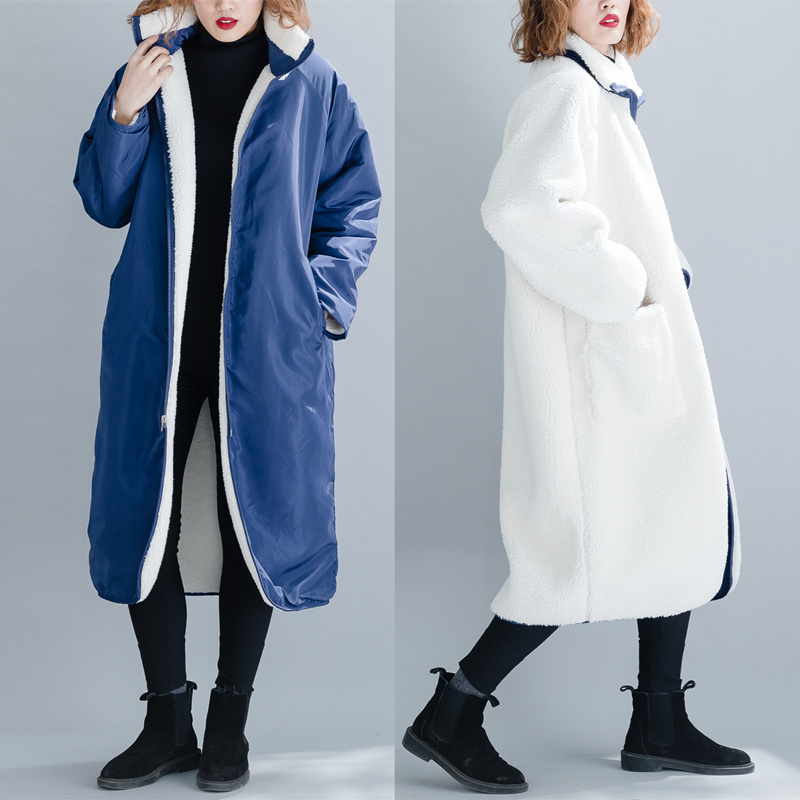 Vêtement Dames Coat Reversible Manteau Taille Coupe Qoerlin Veste UH1Wpa