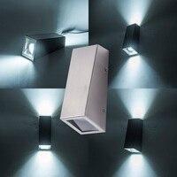 304 aço inoxidável led arandela lâmpada de parede iluminação decorativa para casa led wall mounted varanda luz de parede com gu10 ponto luz|Luminárias de parede|   -